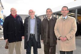 Les 4 directeurs du collège : Messieurs Tuet, Daniel, Denis et Thomas