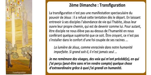 2ème Dimanche : Transfiguration