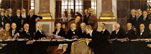Signature du traité de Versailles dans la grande galerie 28 juin 1919, William Orpen (1878-1931)